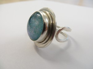 cabochon sterling silver ring